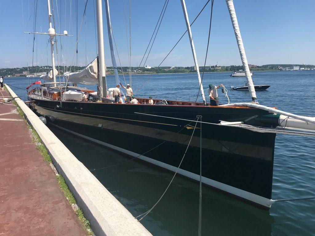 Sailing Yacht Hetairos at Purdys Wharf. | Halifax Shipping ...